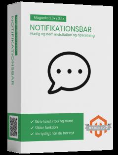 Notifikationsbar magento2 modul