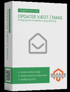 Opdater ordre vægt og kunde email